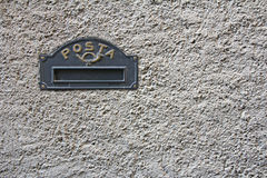 Black Iron mailbox Royalty Free Stock Photo