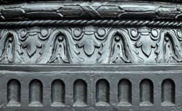 Black iron pattern. Royalty Free Stock Images