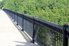 Black iron railing Stock Images