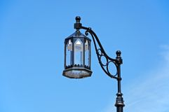 Black iron streetlight. Stock Images