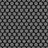 Black Islamic ornament with stars. Seamless pattern vector background Stock Photography