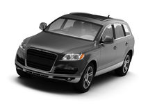 Black isolated comfortable SUV Royalty Free Stock Image