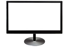 Black isolated computer monitor Royalty Free Stock Photography