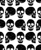 Black isolated grunge style skull seamless background Royalty Free Stock Image