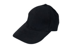 Black isolated hat Stock Image