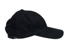Black isolated hat Stock Image