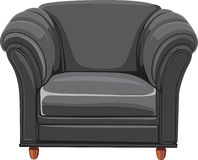 Black isolated leather armchair Royalty Free Stock Photo