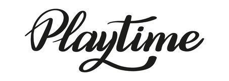 Playtime. Brush pen lettering. Vector. stock illustration