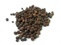 Black isolated pepper Stock Image