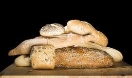 Black isolated round pretzel Breads Royalty Free Stock Image