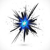 Black isolated vector explosion with particles Royalty Free Stock Photography