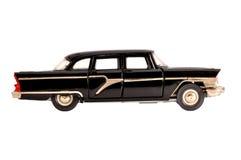 black isolerad gammal retro scale för limousinemodell arkivfoton