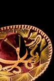 black isolerad mexikansk sombrero Fotografering för Bildbyråer