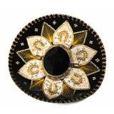 black isolerad sombrero Fotografering för Bildbyråer