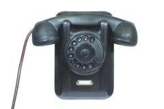 black isolerad telefonwhite Fotografering för Bildbyråer