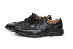 black isolerade male skor Arkivfoto