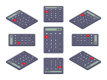 Black isometric calculator Royalty Free Stock Photography
