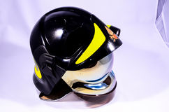 Black Italian Firefighter Helmet Royalty Free Stock Image