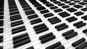 black ivory keys piano white Стоковое фото RF