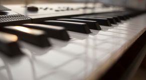 black ivory keys piano white Στοκ φωτογραφία με δικαίωμα ελεύθερης χρήσης