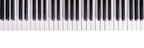 black ivory keys piano white Στοκ Εικόνες