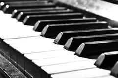 black ivory keys piano white Στοκ Φωτογραφίες