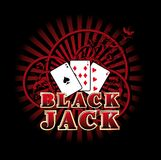 Black jack Fotografie Stock Libere da Diritti
