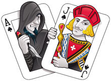 Black jack. Illustrazione di Stock