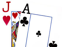 Black Jack. A card game of numbers, equaling 21 stock images