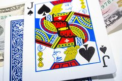 Black Jack. With a bet royalty free stock images