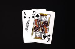 Black Jack. Cards Stock Image