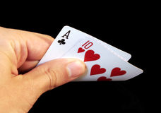 Black Jack. Casino Cards - Black Jack Stock Photography