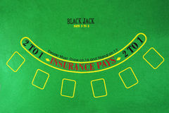 Black Jack background. Black Jack table as background Royalty Free Stock Photo