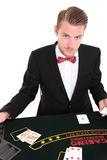 Black Jack dealer Stock Photo