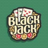 Black jack di logo di vettore Fotografie Stock