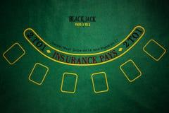 Black Jack gambling table Royalty Free Stock Images