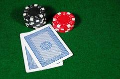 Black Jack Hand. Playing Blackjack in Las Vegas Stock Images