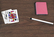 Black Jack hand of cards Royalty Free Stock Images