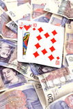 Black jack hand with Cash. Winning black jack hand with Cash stock images