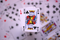 Black jack red and black Royalty Free Stock Photos