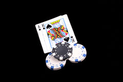 Black Jack Spades Stock Photos