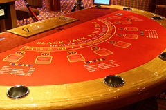 Black jack table in casino Royalty Free Stock Photography