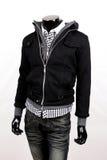 Black jacket. Isolated on white Stock Photos