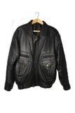 Black jacket. Isolated on the white backrgound Royalty Free Stock Images