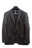 Black jacket on hanger Royalty Free Stock Photo