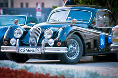 Black Jaguar XK120 Classic Stock Photo