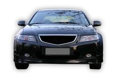 Black japanese car. Black Honda Accord, isolated black car on a white background. Powerful Japan sedan royalty free stock image