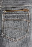 Black jeans back pocket. Royalty Free Stock Photo