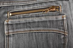 Black jeans back pocket. casual style Royalty Free Stock Image