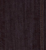 Black jeans denim texture. Real black jeans denim texture, background with stitch Stock Images